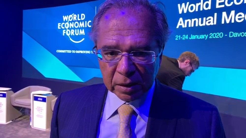 Ministro da Economia, Paulo Guedes, participa do Fórum Econômico Mundial, em Davos - Foto: Bianca Rothier/GloboNews