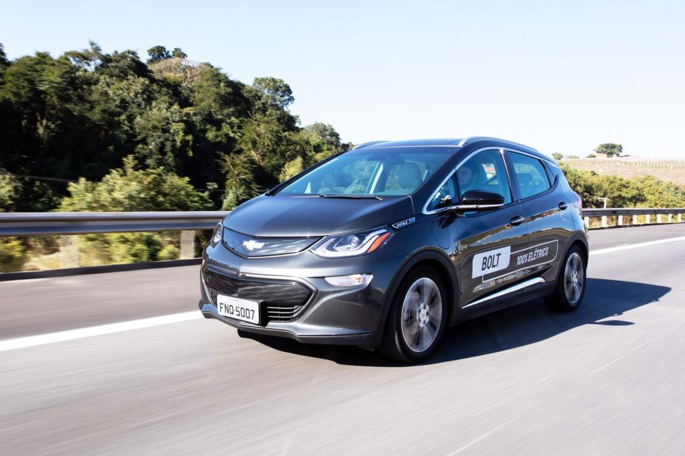 Chevrolet Bolt foi lançado no Brasil em 2019 - Foto: Celso Tavares/G1