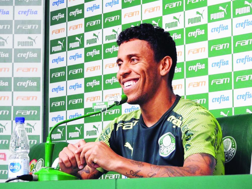 Lateral-direito Marcos Rocha destaca importância do jogo contra o São Paulo, no domingo - Foto: Felipe Zito