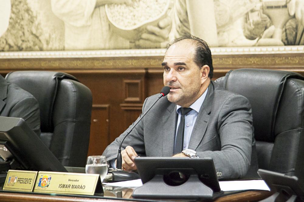 Presidente da Câmara, Ismar Marão solicitou a demanda dos moradores ao Executivo - Foto: Rodrigo Garcia/CMU