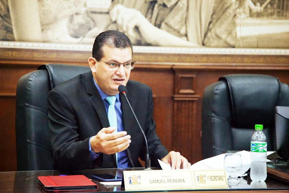 Primeiro secretário da Mesa Diretora da Câmara, vereador Samuel Pereira destaca ações legislativas - Foto: Rodrigo Garcia/CMU