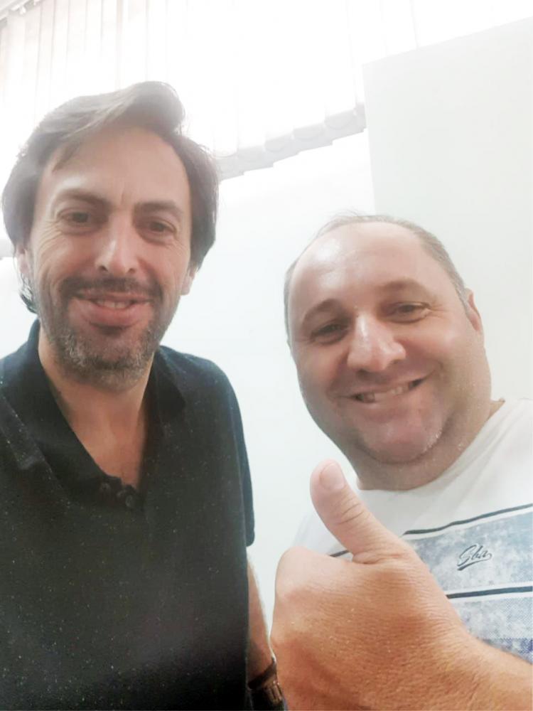 Lawrence Borges e Wilmar Trigueiro (Piriquito) fecharam apoio ao projeto Renova Uberaba 2020 - Foto: Divulgação