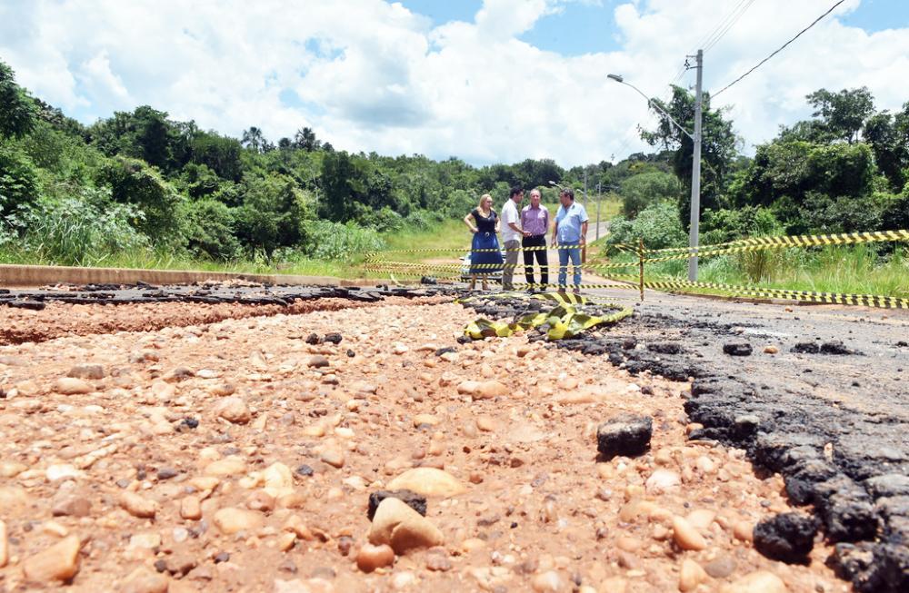 Prefeitura realiza levantamento dos estragos causados pelas chuvas - Foto: André Santos/PMU