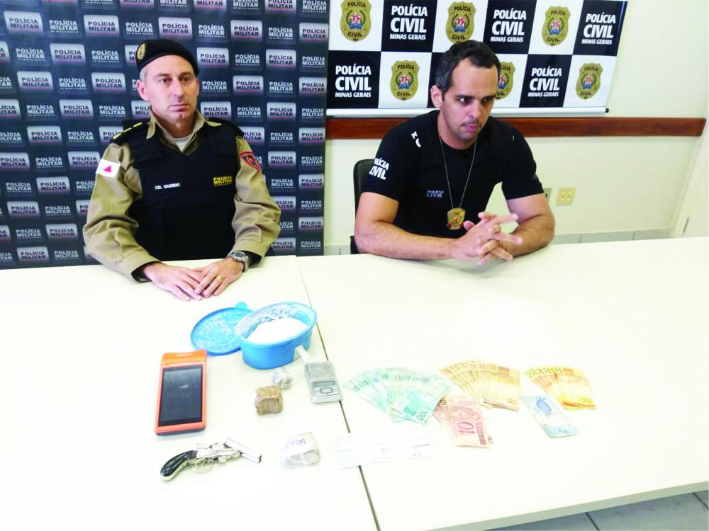 Materiais apreendidos foram apresentados em coletiva de imprensa - Foto: Juliano Carlos
