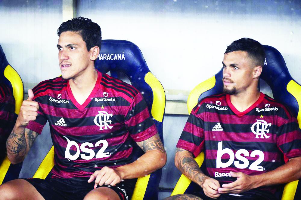 Pedro (esq.) tem a preferência do treinador para a decisão da Recopa Sul-Americana - Foto: André Durão
