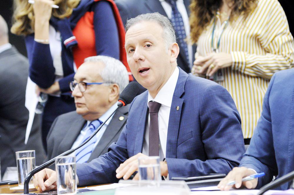 O deputado Aguinaldo Ribeiro (PP-PB) durante a instalação da comissão especial que analisará a reforma tributária