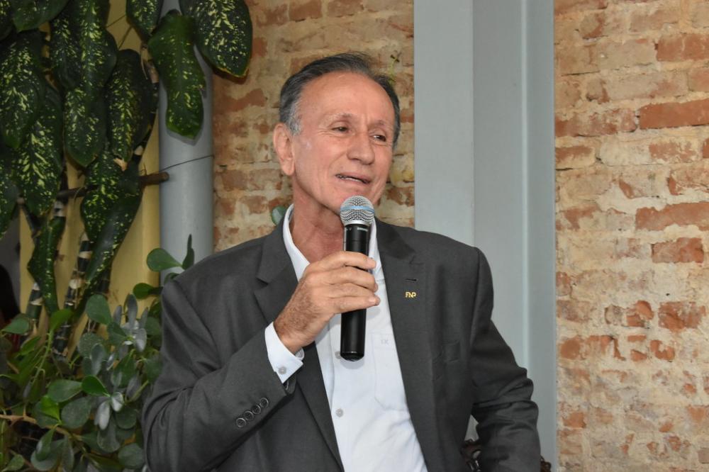 O prefeito do Bicentenário de Uberaba, Paulo Piau, é só alegria