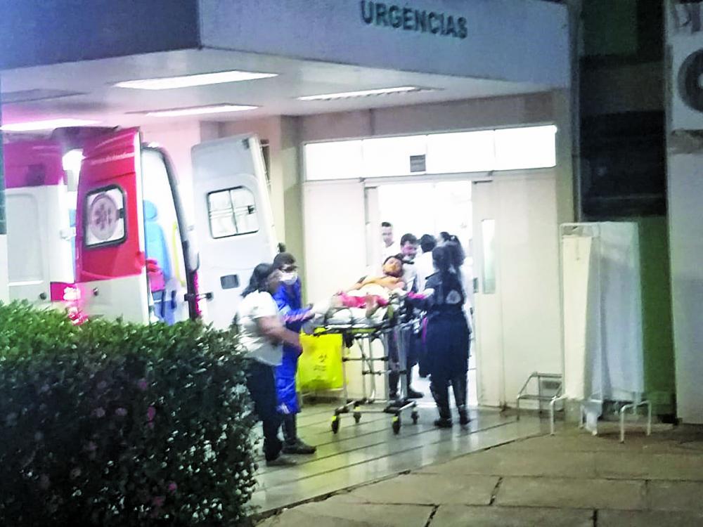 Vítima foi levada para o Hospital de Clínicas da UFTM