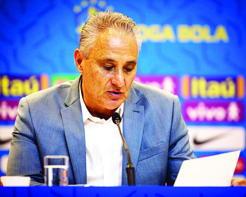 Tite lê a lista de convocados da seleção brasileira - Foto: Felipe Moreno/MoWA Press