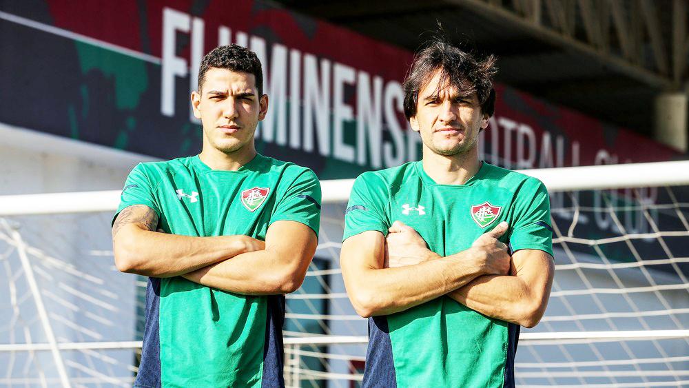 Nino e Matheus Ferraz formaram a dupla titular durante 15 jogos em 2019 - Foto: Lucas Merçon/Fluminense FC