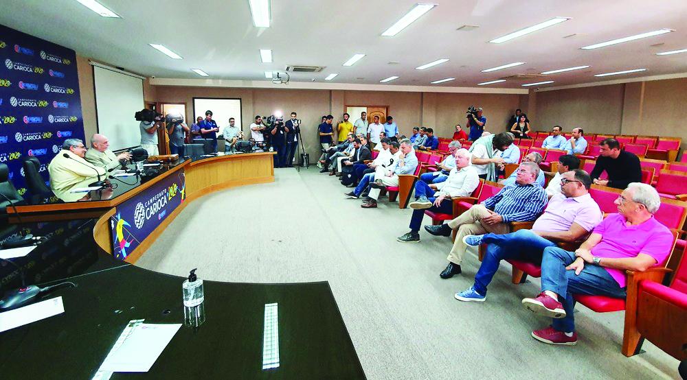 Ferj e clubes decidem suspender Campeonato Carioca por 15 dias - Foto: Ronald Lincoln
