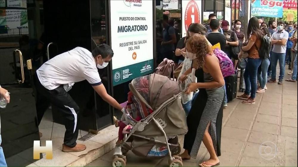 Brasil fecha fronteiras para entrada de estrangeiros vindos de países vizinhos na América - Foto: Reprodução/TV Globo