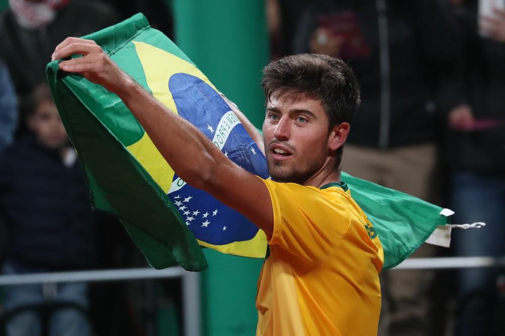 Uberabense João Menezes é o único garantido do Brasil na chave de simples - Foto: REUTERS/Ivan Alvarado
