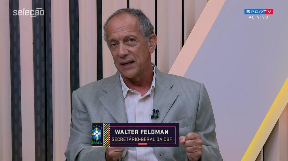 Walter Feldman (foto) critica Autuori, crê em medidas trabalhistas e descarta revisão do calendário - Foto: Reprodução/SporTV
