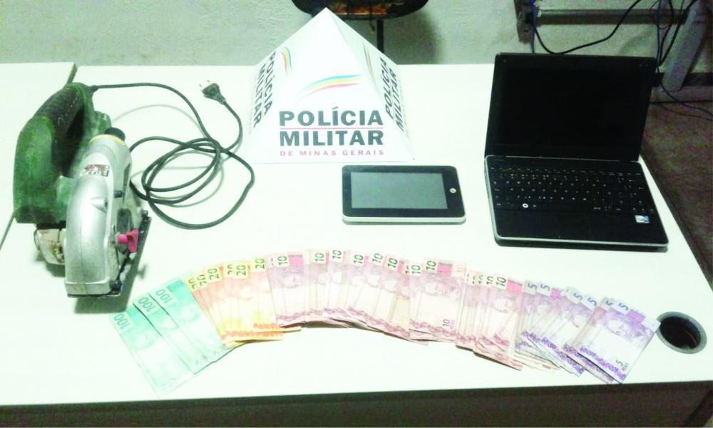 Material apreendido, no Parque das Américas, durante patrulhamento da Polícia Militar - Foto: Divulgação