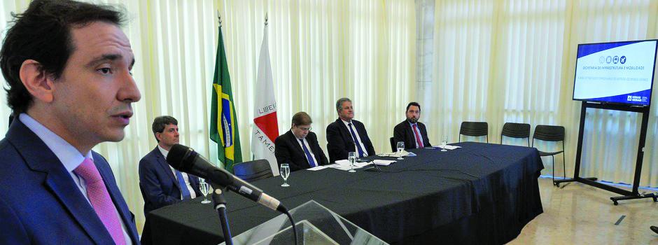 Secretário de Infraestrutura e Mobilidade, Marco Aurélio Barcelos, durante lançamento do plano