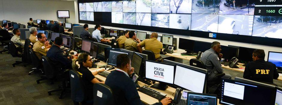 Centro Integrado de Comando e Controle (CICC) completa sete anos como importante aliado das Forças de Segurança - Foto: Gil Leonardi/Imprensa MG