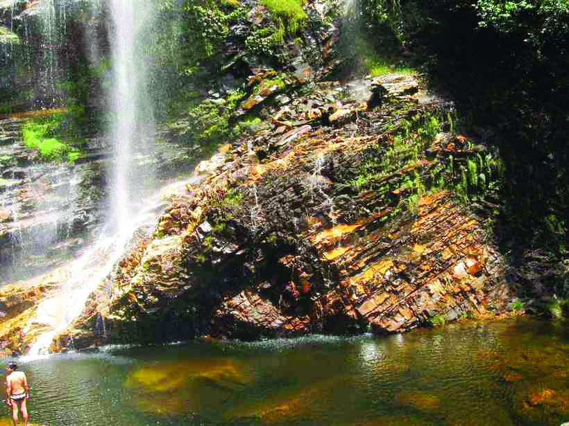 Cachoeira da Taioba, no Parque Nacional da Serra do Cipó