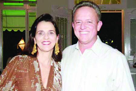Rivaldo Machado Borges Junior e sua esposa Rosália, ele foi eleito na última segunda-feira, para o comando da ABCZ no Trênio 2020/2022