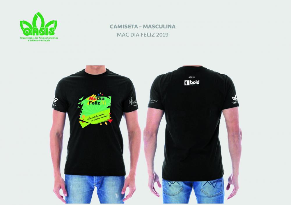 Camisetas alusivas o McDia Feliz