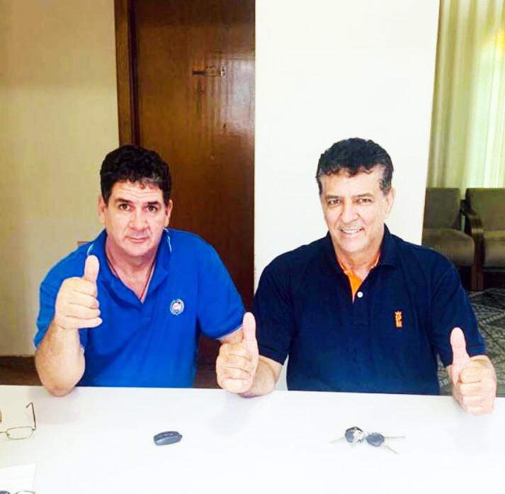 Os irmãos Aguinaldinho e Evaristo filiaram no PDT - Foto: Divulgação