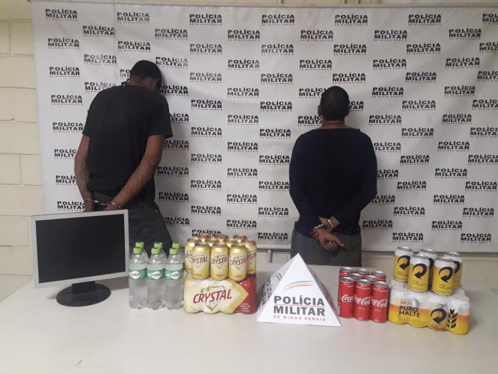 Produtos furtados foram recuperados com os criminosos - Foto: Juliano Carlos