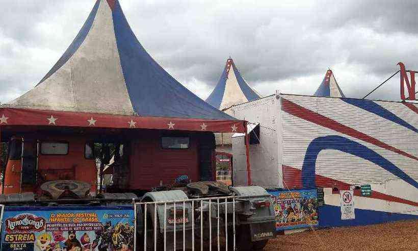 Circo instalado no Parque Fernando Costa está sendo expulso - Foto: Divulgação