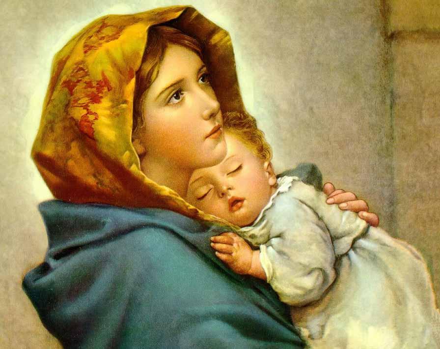 A imagem simbolizando a mãe abençoada de todos nós. Maria. Que ela sempre passe na frente.