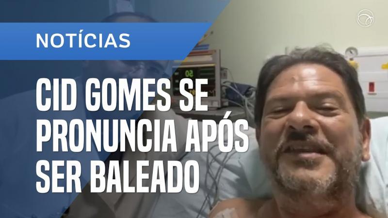 Em primeiro depoimento após tiro, senador Cid Gomes agradece aos médicos
