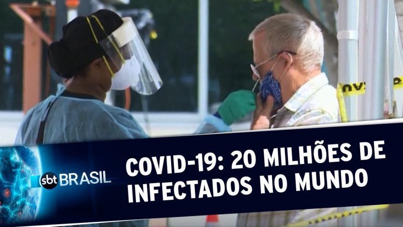 Mundo ultrapassa marca de 20 milhões de infectados pelo novo coronavírus