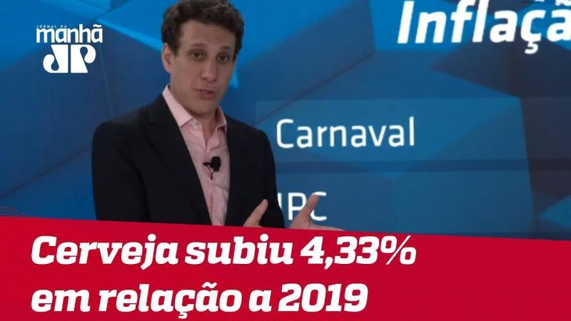 Cerveja subiu 4,33% em relação ao Carnaval de 2019