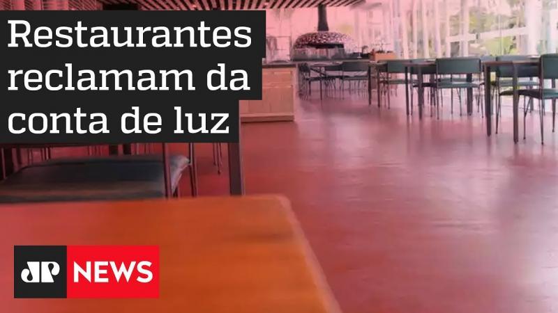 Restaurantes reclamam da conta de luz