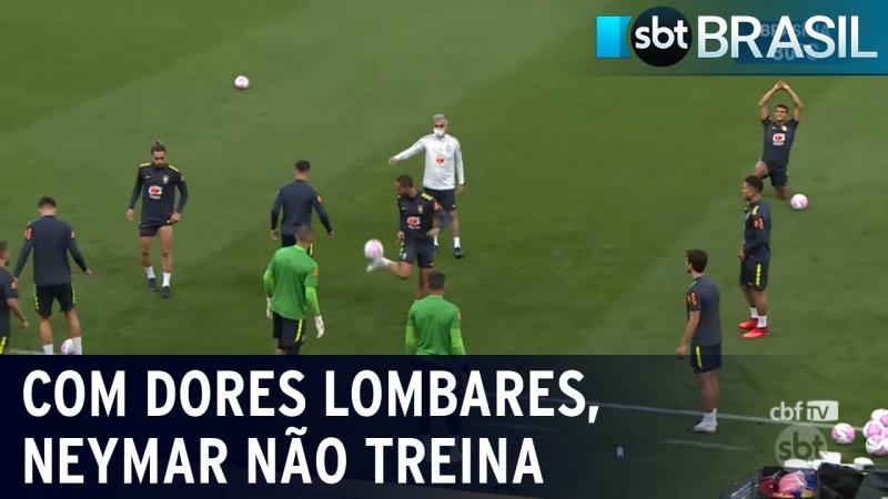 Neymar sente dores lombares e fica fora dos treinos da seleção brasileira