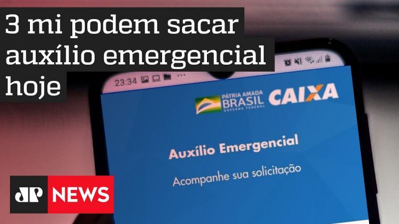 Quase três milhões de beneficiários podem sacar o auxílio emergencial amanhã