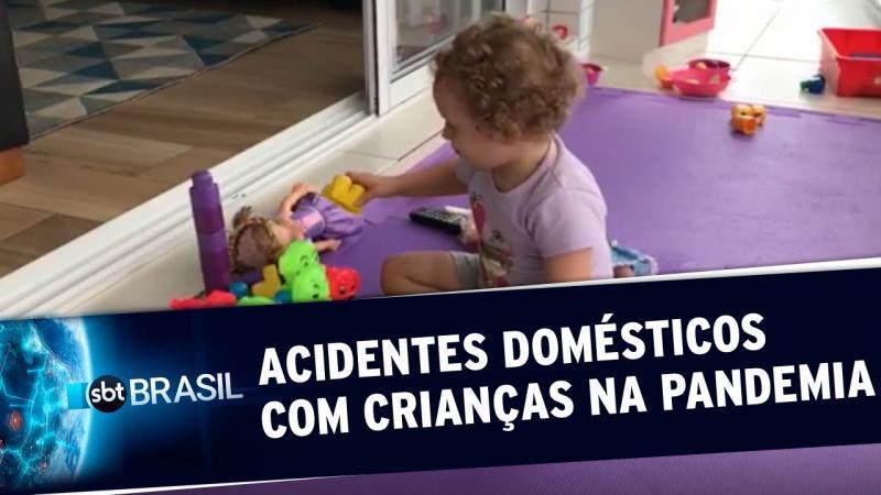 Acidentes domésticos com crianças aumentam durante a pandemia