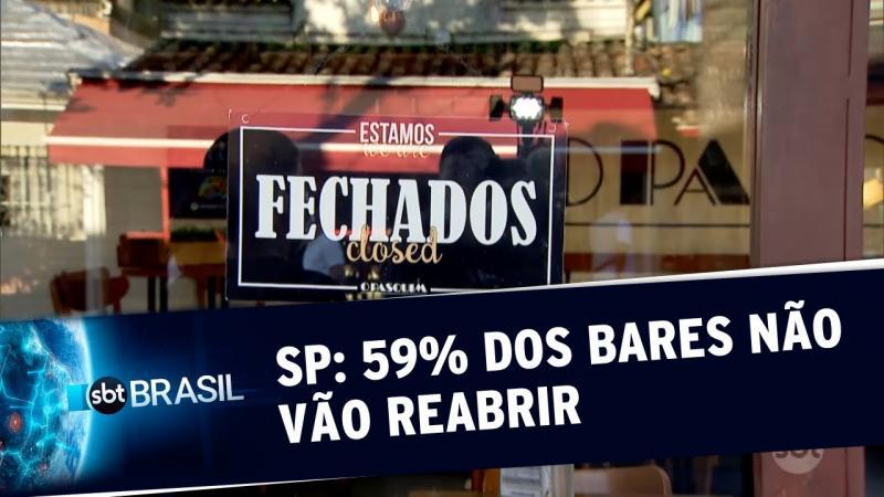 Pesquisa mostra que 59% dos bares não vão reabrir agora em SP