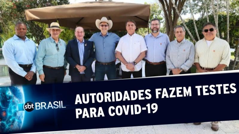 Autoridades que tiveram contato com Bolsonaro fazem exame para Covid-19