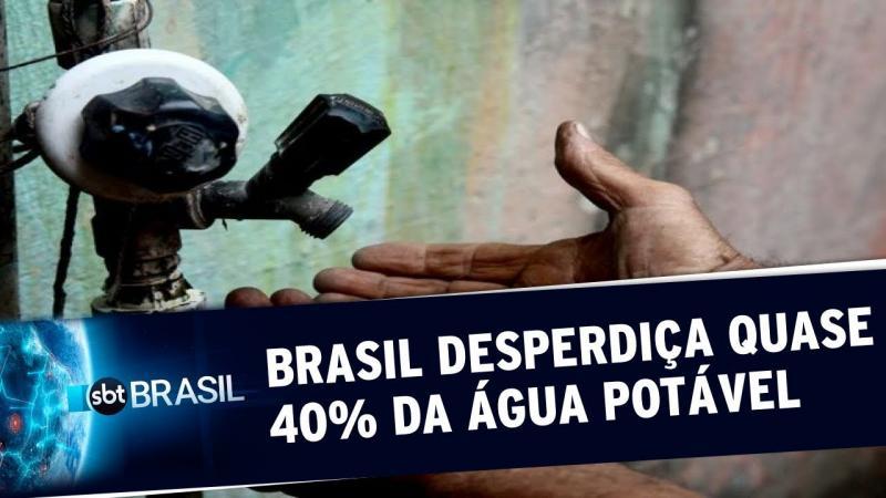 Brasil desperdiça quase 40% da água potável, revela estudo