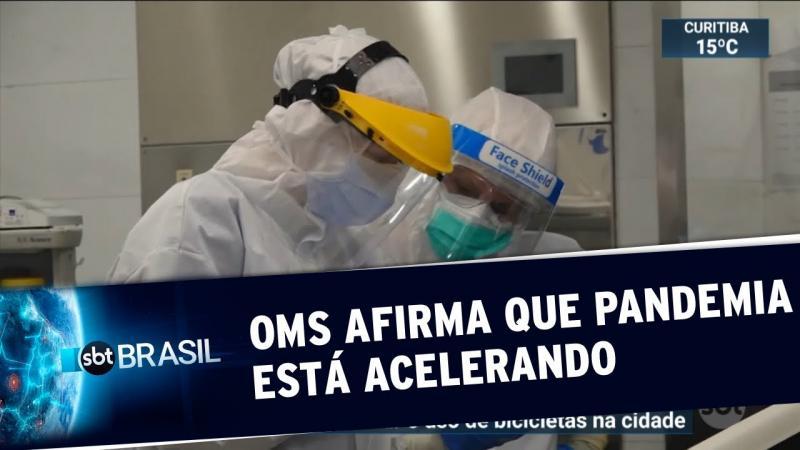 OMS afirma que pandemia de coronavírus ainda está acelerando