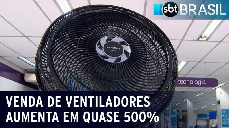 Onda de calor aumenta a venda de ventiladores em quase 500%