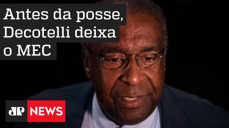 Bolsonaro aceita demissão de Decotelli
